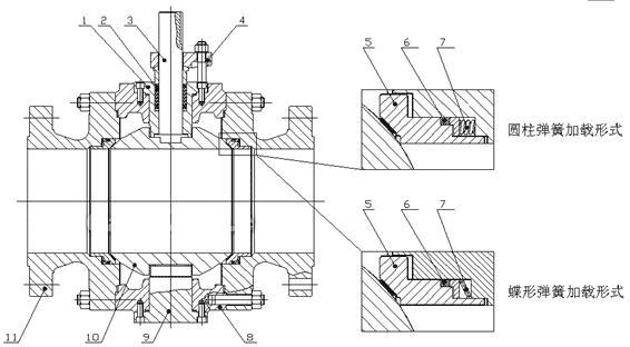 双向金属硬密封球阀结构图