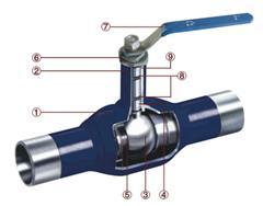 焊接连接球阀